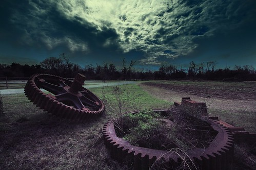 sky clouds manipulated landscape louisiana surreal machinery batonrouge gears hdr 10mm canonefs1022mmf3545usm mrgreenjeans gaylon rurallifemuseum gaylonkeeling