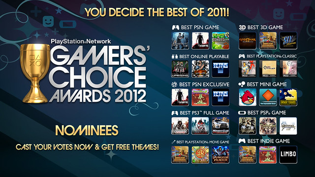 PSN Gamers' Choice Awards 2012 Nominees: You Decide Tomorrow