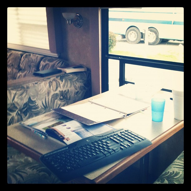 Day 53 #whereiwork #febphotoaday #365 #thebloomforum #homeschool #rvliving