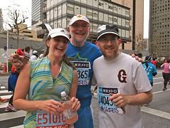 Evans family marathon runners