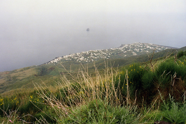 High view of Stromboli