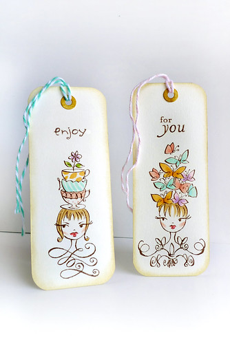 A pair of simple bookmarks