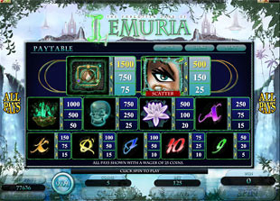 The Land of Lemuria Slots Payout