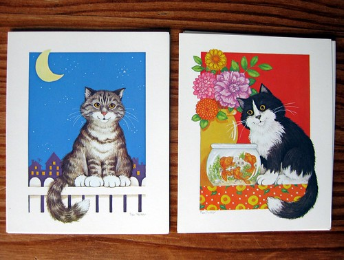 Vintage Current cat notecards