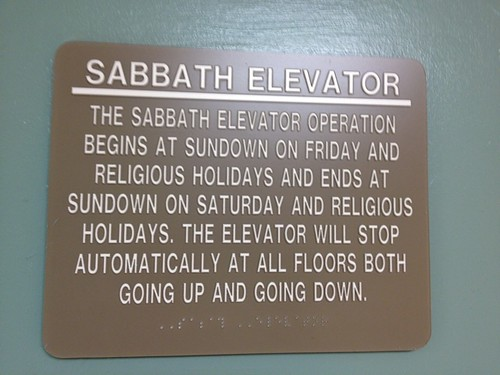 Riding on the Sabbath elevator by betsythedevine