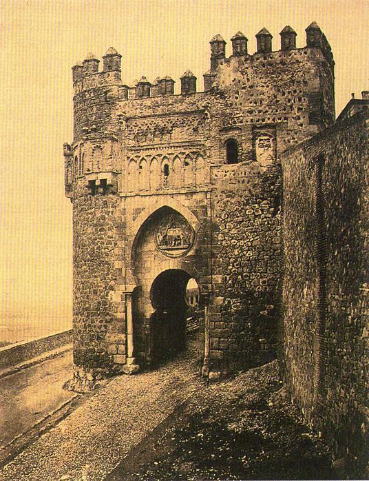 Puerta del Sol en 1852. Calotipo de Edward King Tenison