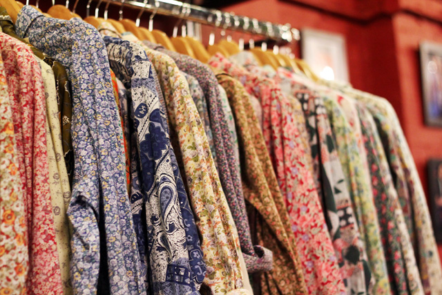 blitz vintage shoreditch london floral shirts