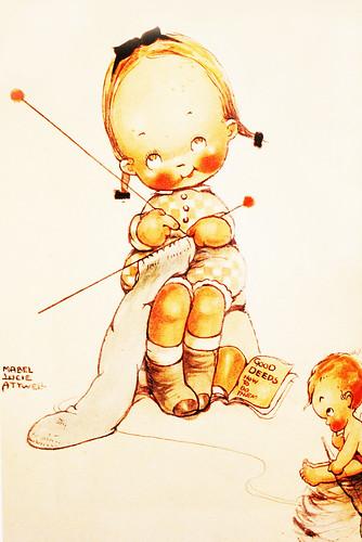 Knitting little girl 2