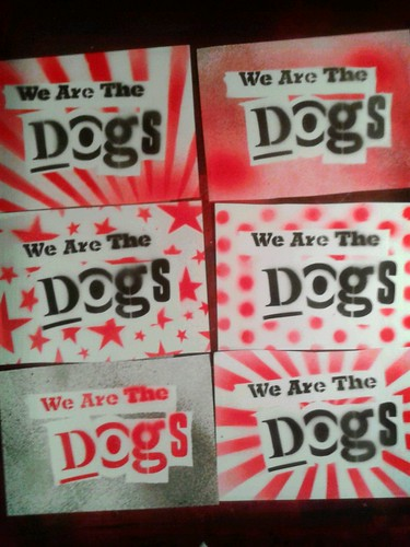 we are the dogs stickers by Funky Red Dog