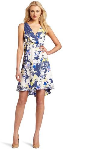 Sleeveless Cascade Floral Dress