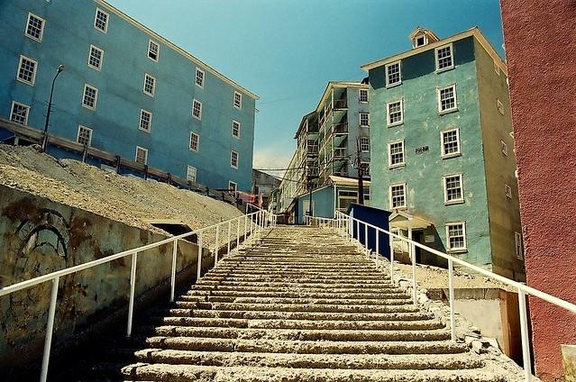 La gran escalera, Sewell, Chile