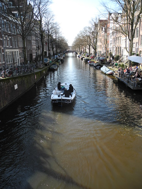 Small boat on a canal