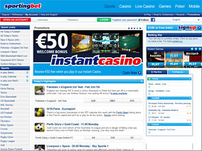 Sportingbet Sportsbook Home