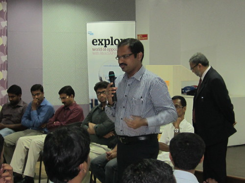 Potential SAP Candidates ask questions at an Atos India SAP Education seminar by Atos India SAP Education