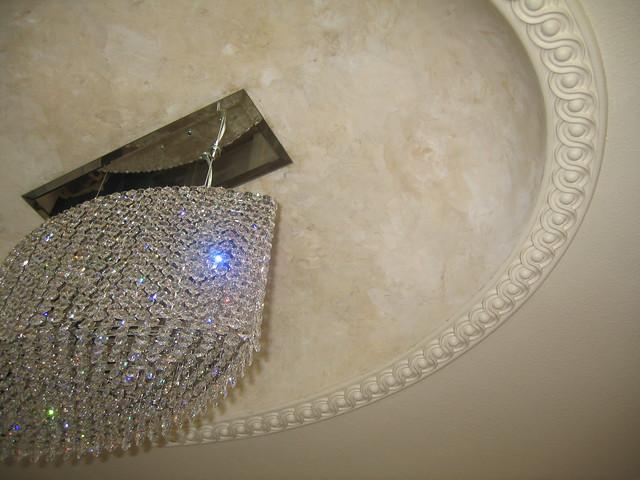 Dome ceiling master bathroom italian venetian plaster for Venetian plaster bathroom ideas