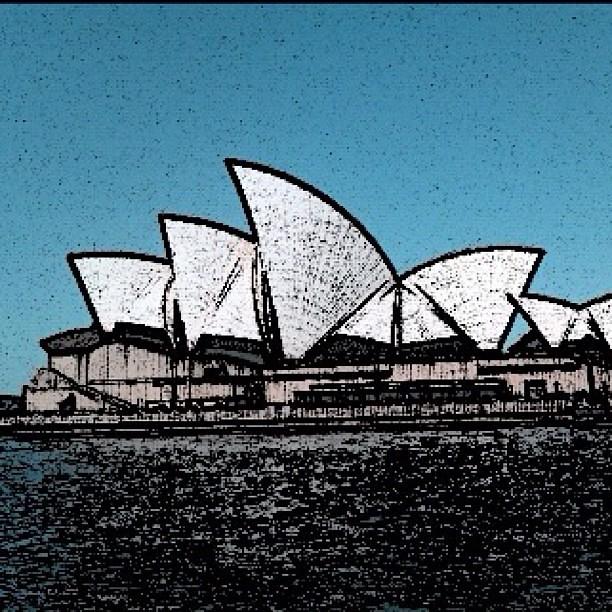 Opera House Cartoon Sydney Opera House Using App 39