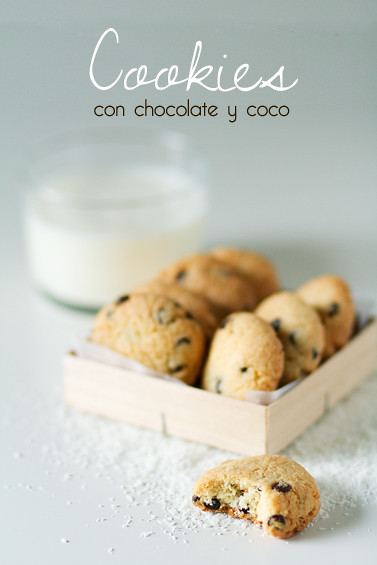 Cookies con chocolate y coco