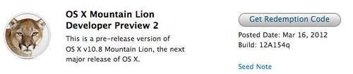 OS X Mountain Lion Developer Preview 2
