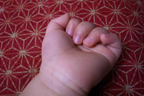 小さな息子の小さな手