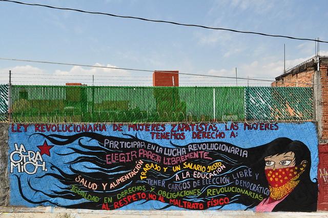 Ley revolucionaria de las mujeres zapatistas flickr for Mural zapatista