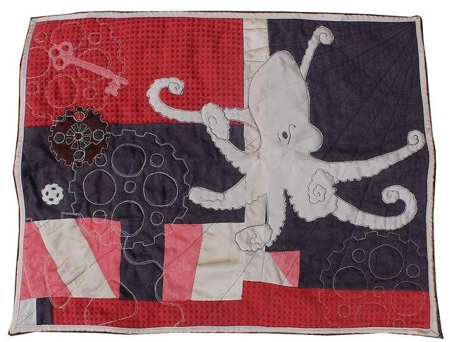 Steampunk Octopus Quilt