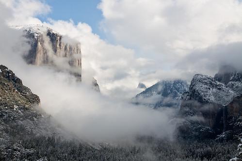 El Capitan in the Fog