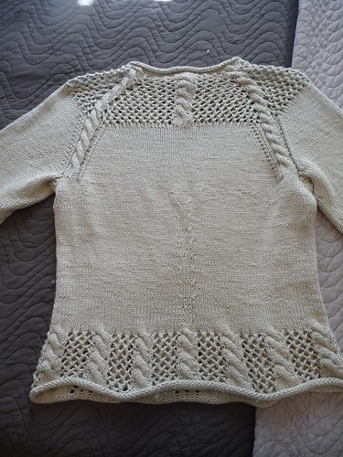 Back of Trellis & Vine Pullover