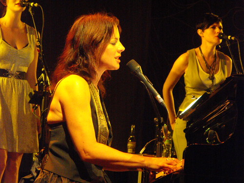 Butterly Boucher (right) with Sarah McLachlan