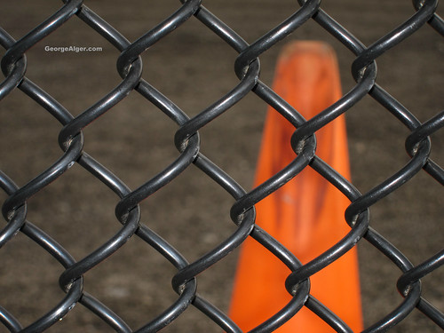 Black Fence and Orange, by GeorgeAlger.com