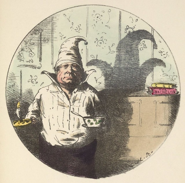 A foolscap (1850s coloured lithograph by CH Bennett)