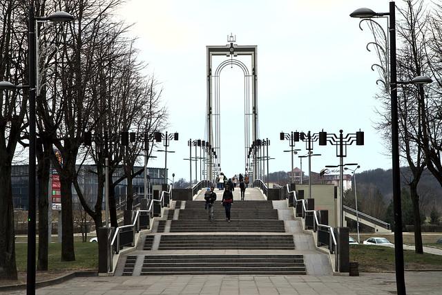 Kaunas. Pėsčiųjų tiltas