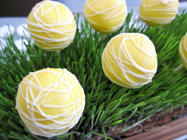 Basil and thyme cake pops
