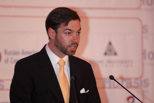 HRH Crown Prince Guillaume of Luxembourg welcoming participants of the 2012 Horasis Global Russia Business Meeting