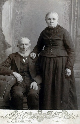 John and Bridget Green (Cabinet Card by G.C. Hamilton, Ponka, Nebraska)