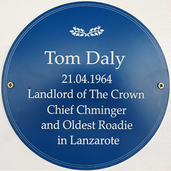 Photo of Tom Daly blue plaque