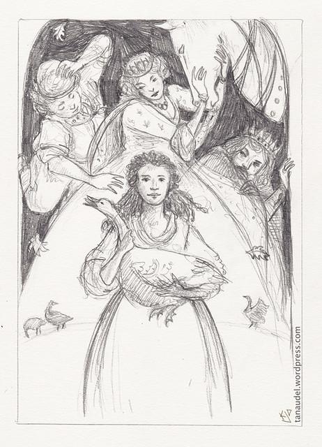 Illustration Friday: Vanity - pencil