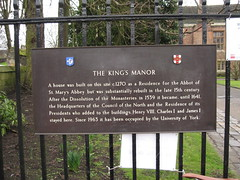 Photo of Henry VIII of England, Charles I of England, and James I of England bronze plaque
