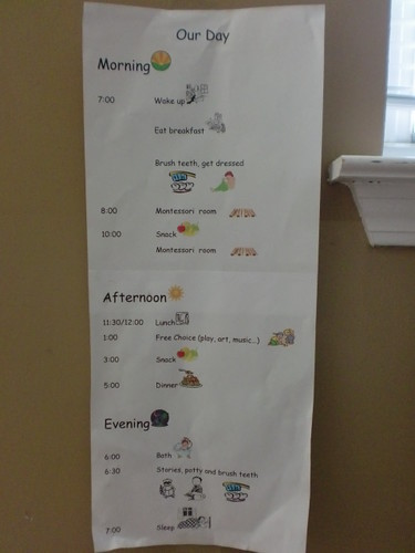 Routine Chart (Photo by Julie at The Adventures of Bear)