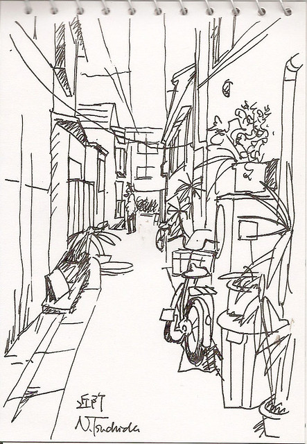 近所の路地 The neighborhood alley