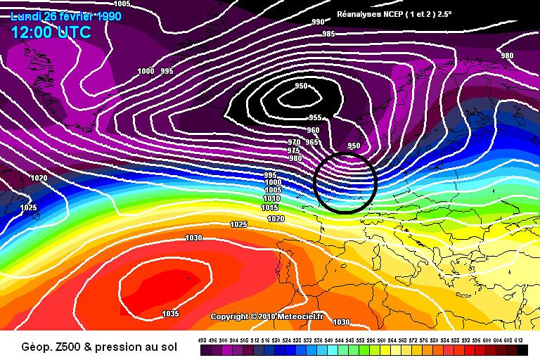 tempête du 26 février 1990 météopassion