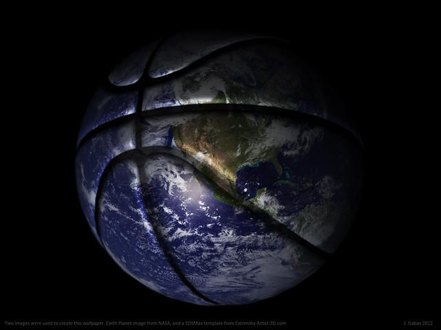 Basketball Planet   Basketball Earth Planet   By: J.Gabás ...
