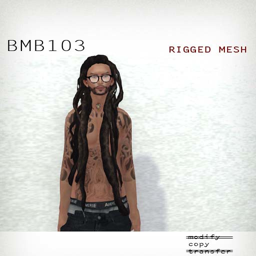 booN BMB103 hair RIGGED MESH