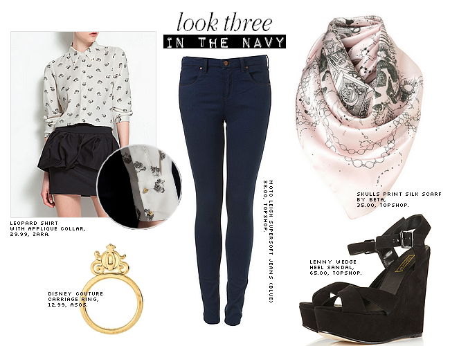 daisybutter - UK Style Blog: ways to wear, how to wear, navy jeans, ss12, prints, print clash, trends, british style