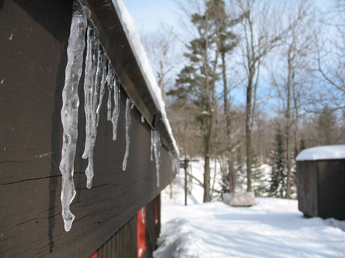 Huron Hut icicles