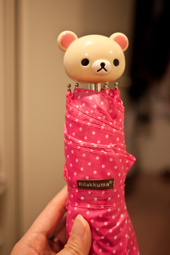 Cute pink rilakkuma umbrella