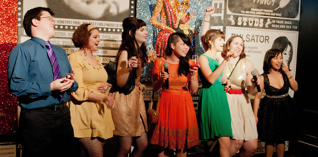 The ModCloth crew belt out Ghost Busters. Photo by Svetlana Saitsky Photography.