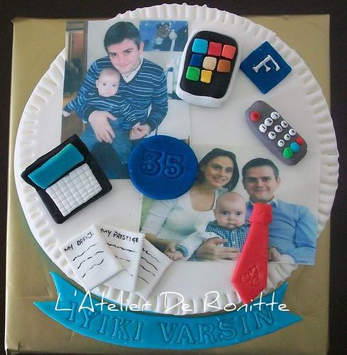 35 yaş temalı pasta by l'atelier de ronitte