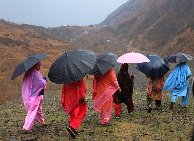 Umbrellas were required, near Moolia village, Khyber Pakhtunkhwa, Pakistan