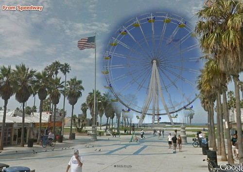 Venice Beach Ferris Wheel Mockup by Mick