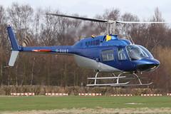 G-SUET - 1968 build Bell 206B Jet Ranger, visiting Barton as Pipeline 83